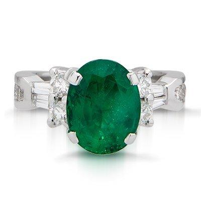 Beautiful Emerald & Diamond Ring.., 75% BELLOW