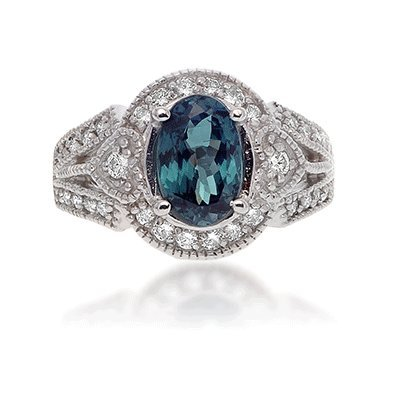 Traditional Alexandrite Oval Ring.