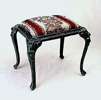 Green Footstool (13307 )