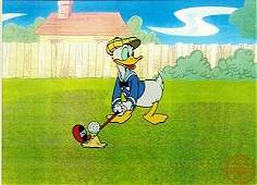 "Disney Animation Sericel ""DONALD GOLF"" Donald Duck"