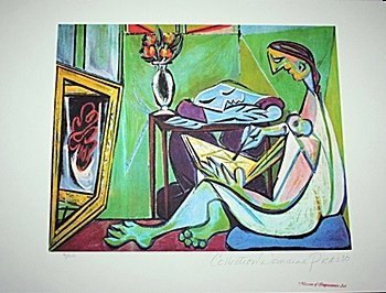 Limited Edition Picasso - Woman Drawing Before A Mirror