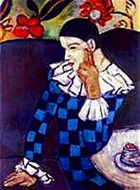 Harlequin Leaning on his elbow-Collection Domaine