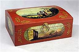 Handpainted Letter Box (12861)  Dimensions : 4.50H