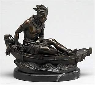 Indian in Canoe (26369)