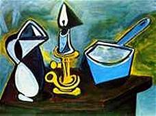 Still life with candle-Collection Domaine Picasso