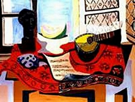 Still life with Mandolin-Collection Domaine Picasso
