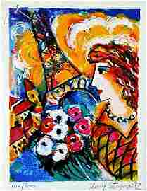 "Zamy Steynovitz Hand signed/# serigraph ""Paris Dream"""