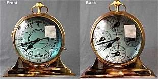 Polished Brass World Clock (51014)