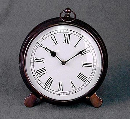 Antique Copper Clock (51186)