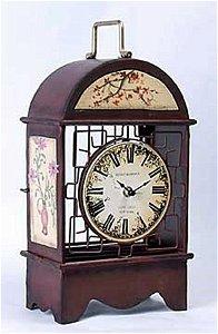 Painted metal clock (6523)