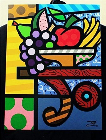 "Jozza ""Fruit Basket"" Original Hand Signed Acrylic on"