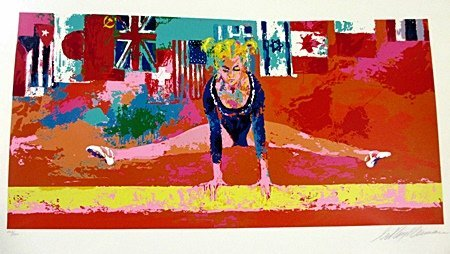 "Leroy Neiman S/N ""Olympic Gymnast"" Olympics Hand Signed"