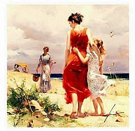"""Pino """"BREEZY DAYS"""" Hand Signed/# Giclee on Canvas"""