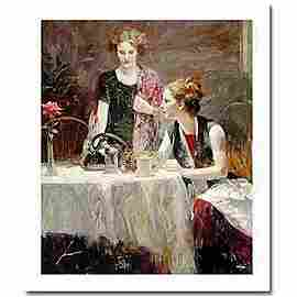 """Pino Hand Signed # """"After Dinner"""" Giclee on Paper"""