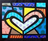 """Jozza """"Suited Heart #18"""" Original Hand Signed Acrylic"""