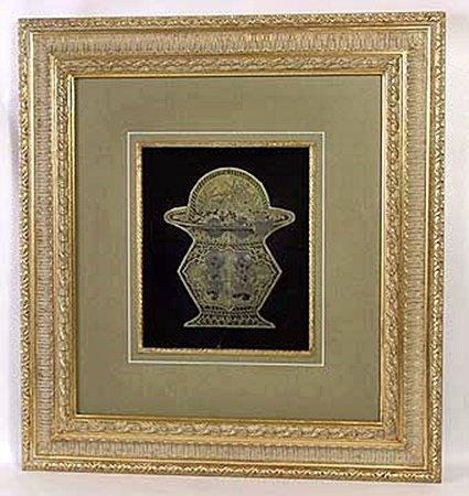 Framed Medallion - Chinese Lock (24105)