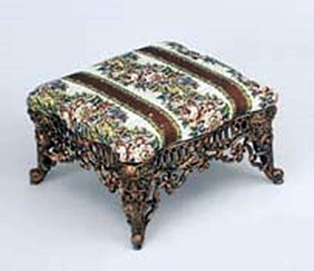 Large Cast Iron Footstool (13443)