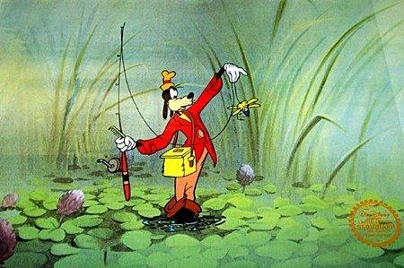 "Disney Mickey Mouse Animation Sericel ""GOOFY FISHING"""