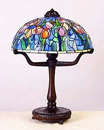 "Lamp with 12"""" Tulip Shade (11069)"