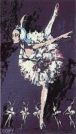 """Leroy Neiman """"PRIMA BALLERINA"""" BALLET DANCER Plate"""