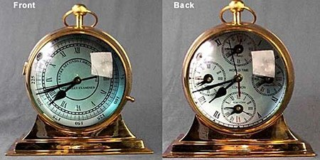 Polished Brass World Clock (51014)