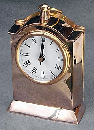 Polished Brass Clock (51242)