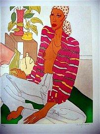 "JANOPOULOS ""REGGAE WOMAN"" COLORFUL ISLAND ART"