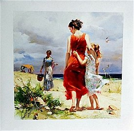 """Pino Hand Signed# """"BREEZY DAYS"""" Giclee Paper"""