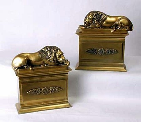 Lion bookends (51693)