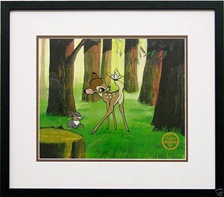 Disney Framed Animation Cel BAMBI and THUMPER gift