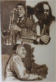 """""""Jazz Greats"""" Embossed Etching by George Crionas"""