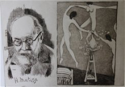 """""""Homage to Matisse"""" Embossed Etching by George Crionas"""