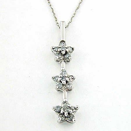 Stylish 10kt Diamond Star Necklace (ND-227)