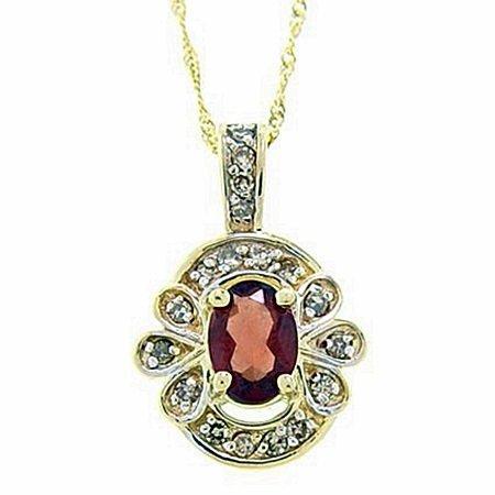 Lady's Beautiful 10kt Garnet & Diamond Ring(NGS -145)