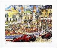 "DUAIV(French) ""Monaco Grand Prix"" Car Race Hand Signed"