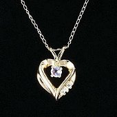 Beautiful Tanzanite Heart Necklace 10kt (NGS-156)