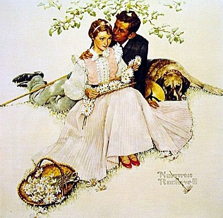 "Norman Rockwell ""Flowers in Tender Bloom"" From 4 Ages"