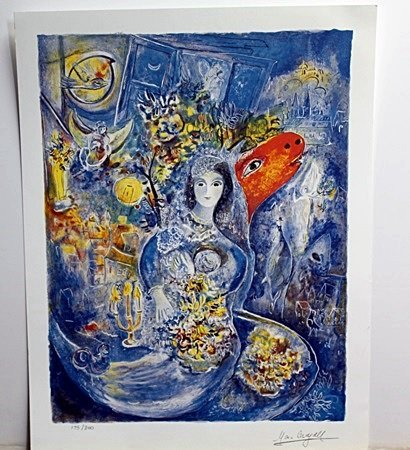 """""""Bella""""  Lithograph by Marc Chagall"""
