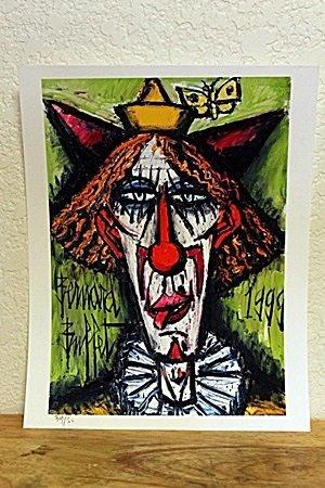 """""""Red Head Clown"""" By Bernard Buffet. (CC)"""