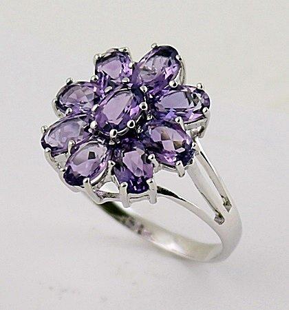 Stylish Silver Amethyst Ring. (SRI100288)