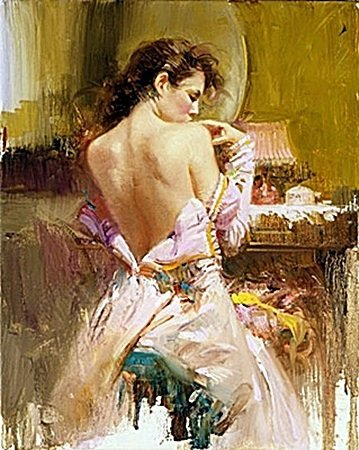 """PINO """"BALLGOWN"""" LE Hand Signed/# Giclee on Canvas"""