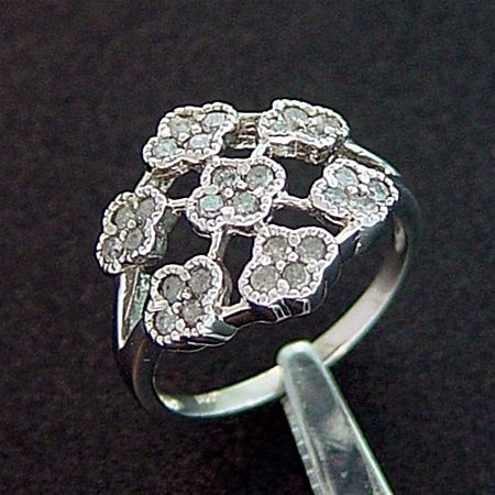 Antique Filigree Style 10kt Diamond Ring (SBJ-124)