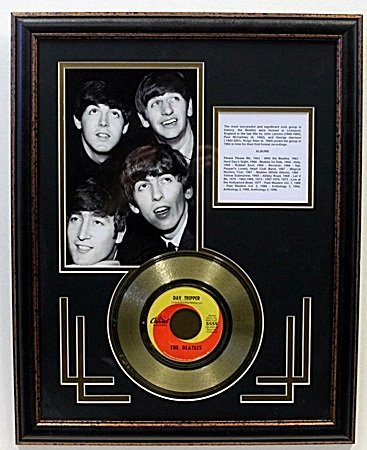 """Day Tripper Record"" Beatles Record Gold Plated"