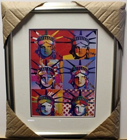 """LIBERTY AND JUSTICE FOR ALL""  Lithograph By Peter Max"