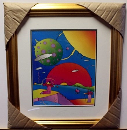"""YEAR 2250""  Lithograph By Peter Max"
