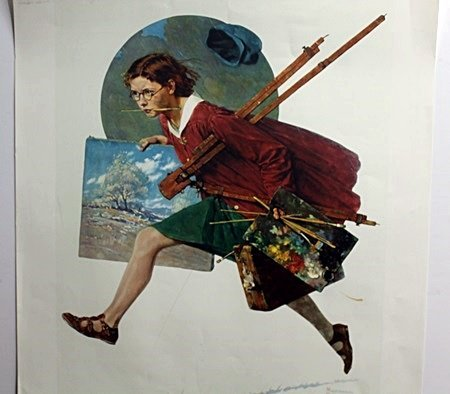 Original Lithograph by Norman Rockwell