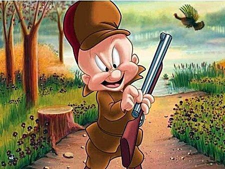 """Warner Bros. """"TURKEY HUNTING ELMER"""" Elmer Fudd Hunting"""