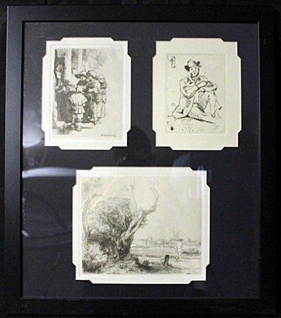 3-in-1 Etchings by Rembrant (EK 1251)