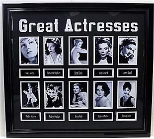 Great Actresses Memorabilia Custum Framed - LA14
