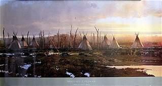 "Fine Art Print ""Blackfeet Camp"" by Michael Coleman"